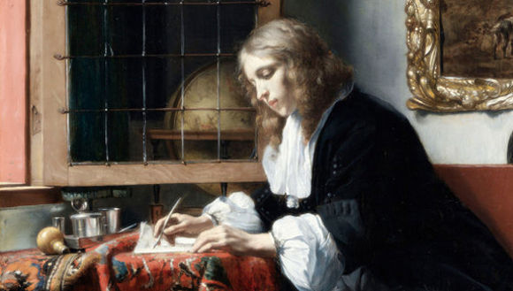 Gabriel Metsu: Young man writing letter