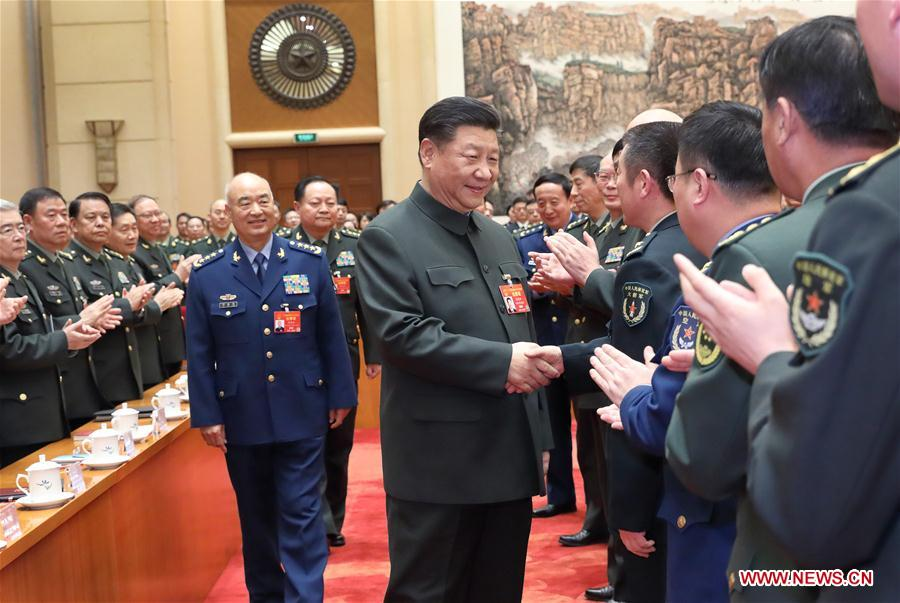 (TWO SESSIONS)CHINA-BEIJING-XI JINPING-NPC-PLA AND ARMED POLICE-PLENARY MEETING (CN)