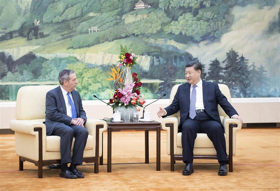 CHINA-BEIJING-XI JINPING-HARVARD PRESIDENT-MEETING (CN)