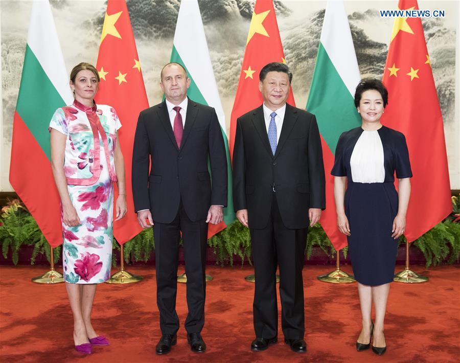 CHINA-BEIJING-XI JINPING-BULGARIAN PRESIDENT-TALKS (CN)