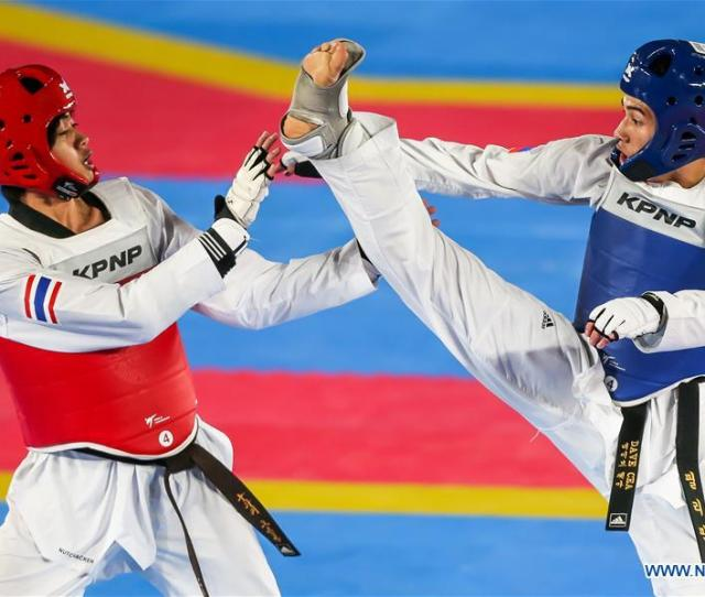 In Pics Taekwondo Finals At Southeast Asian Games  Xinhua