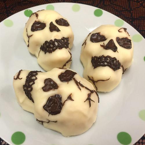 skulls on a plate