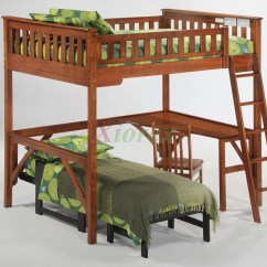 Loft Bed With Desk And Futon Chair Yoga Dvd Reviews Ginger Twin Full Size Bunk Beds By Night