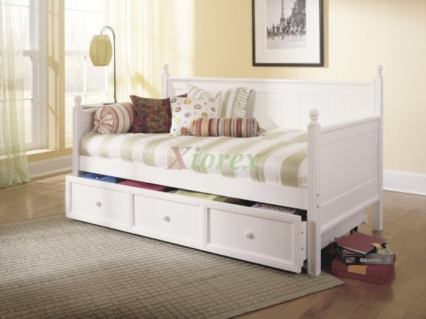 Casey Daybed - Twin Size Bed Trundle In Honey Maple