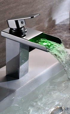 led kitchen faucet fluorescent light covers for 洗菜盆水龙头_装修效果图