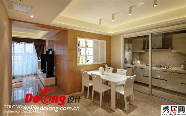 white kitchen floor formica countertops cost 现代时尚风格原木色实木材质墙面餐厅装饰效果图-秀居网