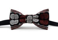 crimson red bow tie