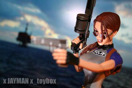 Lara Croft in Wetsuit