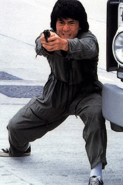 Jackie Chan in Police Story. One of my favourite films of all time!