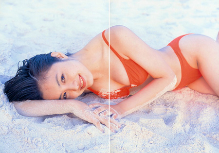 Yukie Nakama in her Pastel Photo Book (1997)