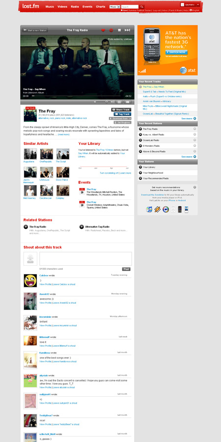 Last.fm Internet Radio