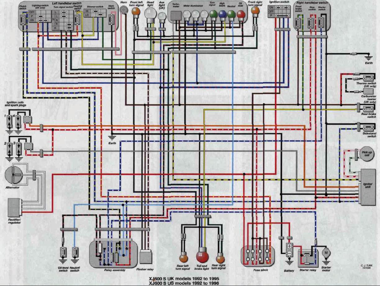 Wiring Diagram Schematic 1992 1996 Xj600 Seca Ii Wiring Diagram Schematic