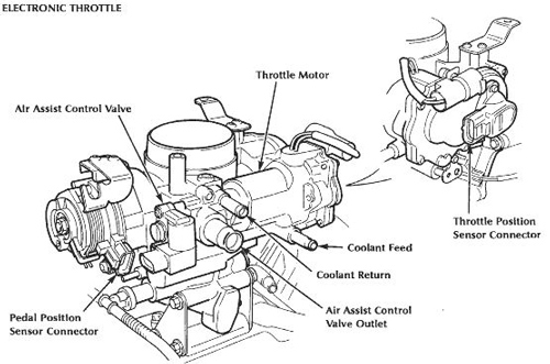 Jaguar XK8 XKR Mid Range Throttle Body Diagram C2A1444