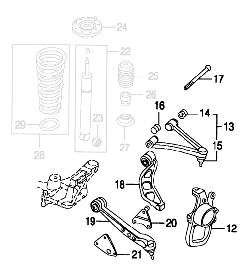 1997 Ford Thunderbird Front Suspension Diagram