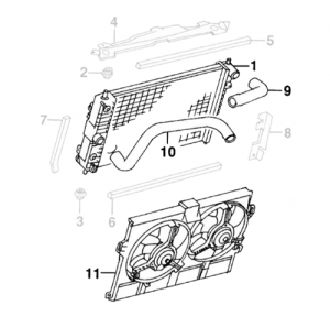 Radiator, Hoses and Fan Motors XK8 XKR 1996 to 2006 4.0