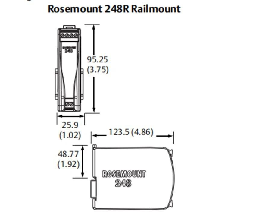 Rosemount 248RAI1Q4 Rail Mount Transmitter Suppliers and