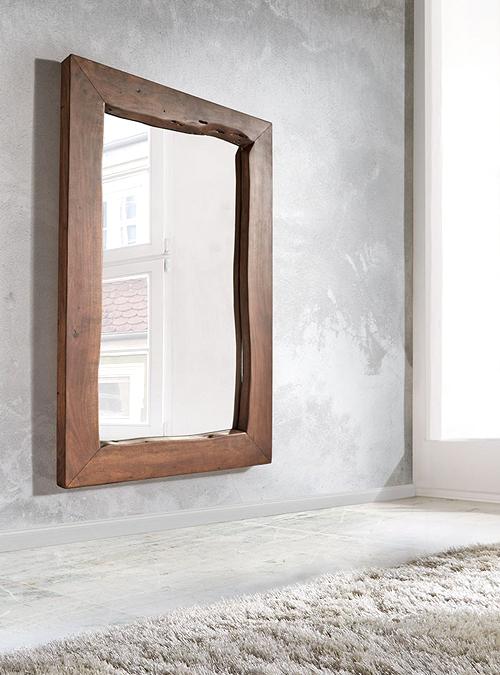 Specchio da bagno in legno massello Calliope Xlab