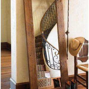 Specchio da terra in ferro elegante morgana design arti e mestieri 0341. Specchio Da Terra In Legno Massello Di Castagno Xlab Design