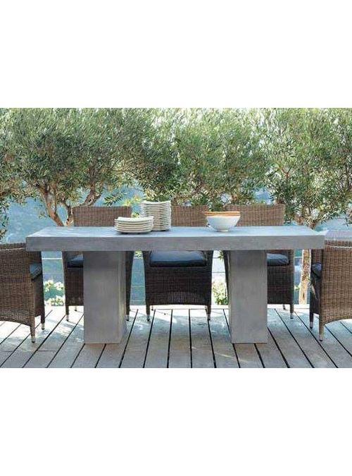 Scopri la gamma di tavoli e tavolini da esterno. Tavolo Da Giardino Fiordaliso Effetto Cemento Xlab