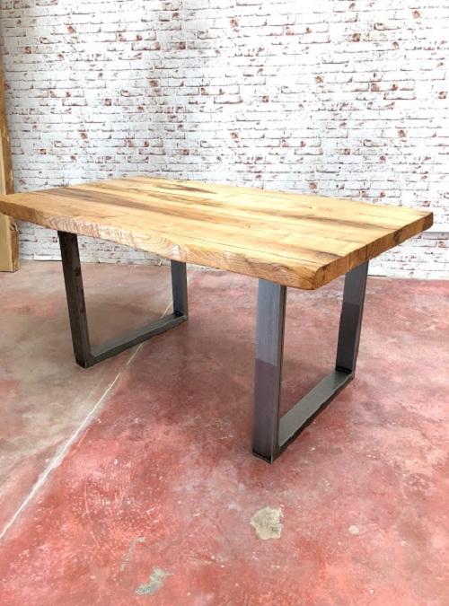 Tavolo da cucina in legno massello grezzo Nathan XLAB Design
