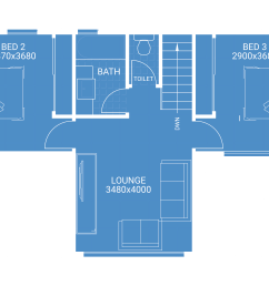second storey extension free floor plan blueprint showing 2 bedrooms 1 bathroom and lounge room house [ 10012 x 5893 Pixel ]