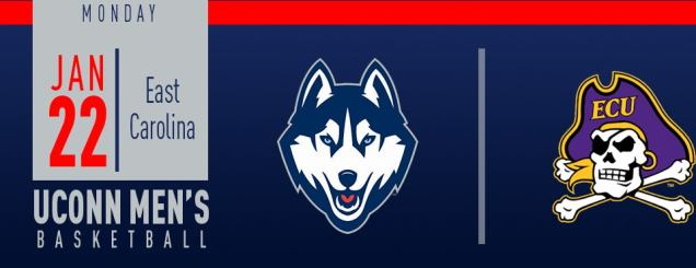 Image result for UConn Men's Basketball vs. East Carolina jan 22