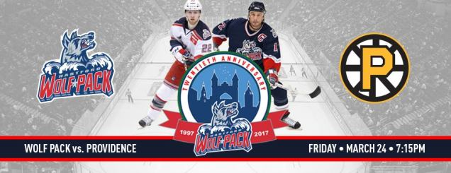 Image result for Hartford Wolf Pack vs. Providence Bruins march 24