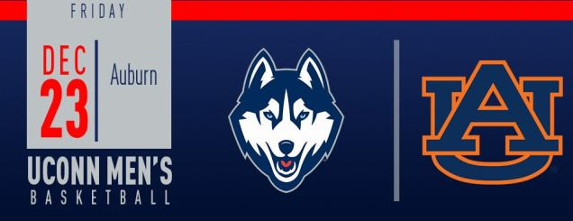 Image result for UConn Men's Basketball vs. Auburn XL Center