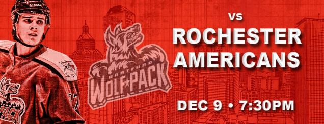 Image result for Hartford Wolf Pack vs. Rochester Americans
