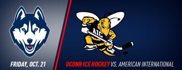 Image result for UConn Hockey vs. American International