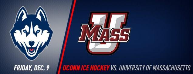 Image result for UConn Hockey vs. Massachusetts december 9