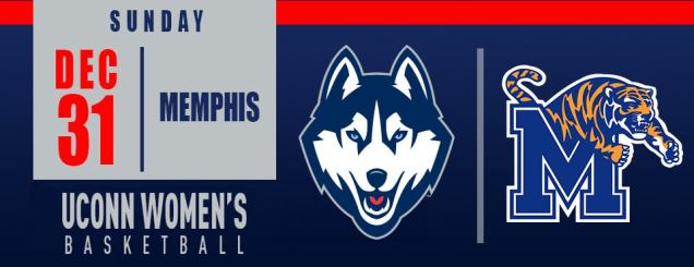 Image result for UConn Women's Basketball vs. Memphis Dec 31