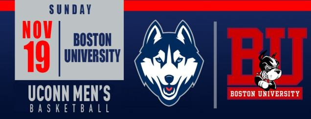 Image result for UCONN MEN'S BASKETBALL VS. BU