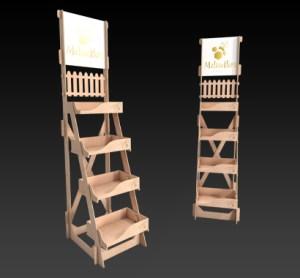 ξύλινα σταντ προβολής και προώθησης ποιοτικών προϊόντων