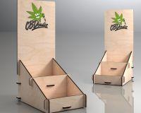 Ξύλινο επιτραπέζιο σταντ για την εταιρεία CBDoulis