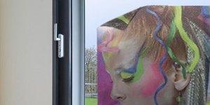Fensterlochfolie Transparent