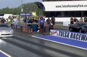 3000 HP Cadillac XLR vs Corvette C6 Drag Race