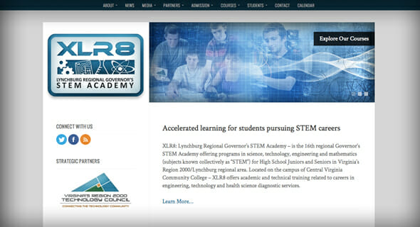 The new XLR8 STEM Academy website is live!