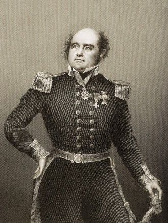 """UNSPECIFIED - CIRCA 1800: Sir John Franklin, 1786 - 1847. Celebrated English Navigator.Engraved by D.J.Pound from a drawing by Negelen. From the book """"The Drawing-Room of Eminent Personages"""" Volume 2. Published in London 1860 CREDIT: Universal History Archive/Getty Images"""