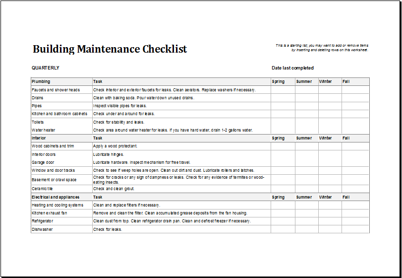 building maintenance plan template costumepartyrun