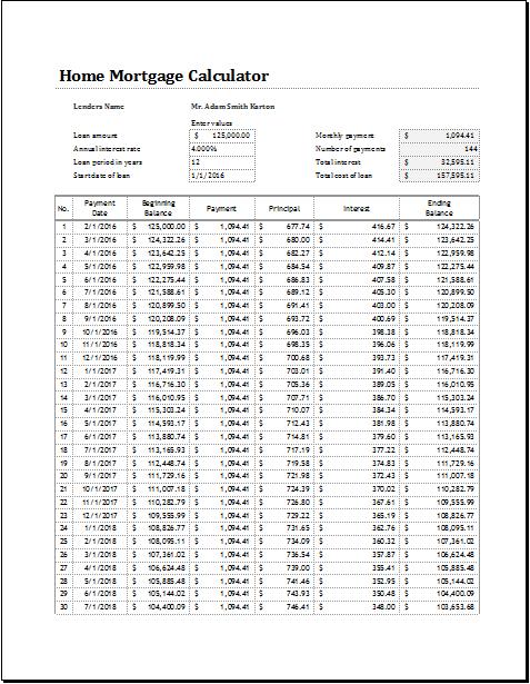 loan calculators excel