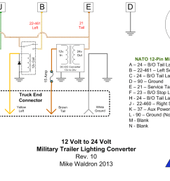 xm381 12 volt civllian truck to 24 volt military trailer lighting rh xm381 com 24v trailer socket wiring diagram 24v trolling motor wiring diagram [ 1431 x 937 Pixel ]