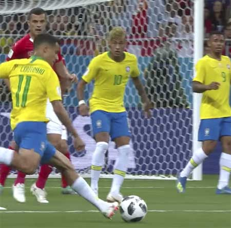 Couthino Brasil mål Sveits