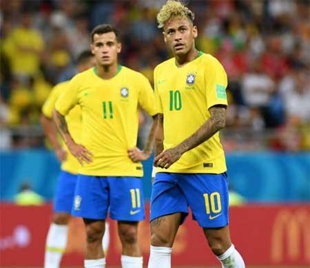 Neymar Coutinho brasil serbia