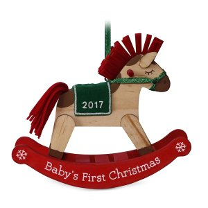 babys first christmas rocking horse 2017