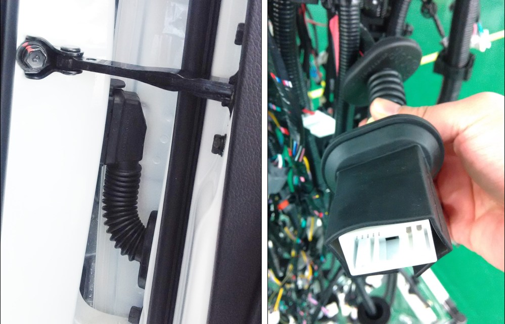 medium resolution of driver door cable harness rubber boot