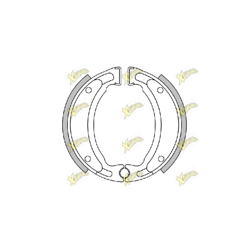 Original Polini brake shoes d.110X25 mm (with springs)