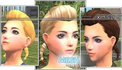 XM Sims2 Free Sims 2 Computer Game Hair New Mesh Download