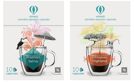 קפסולות קפה המכילות קנאביס