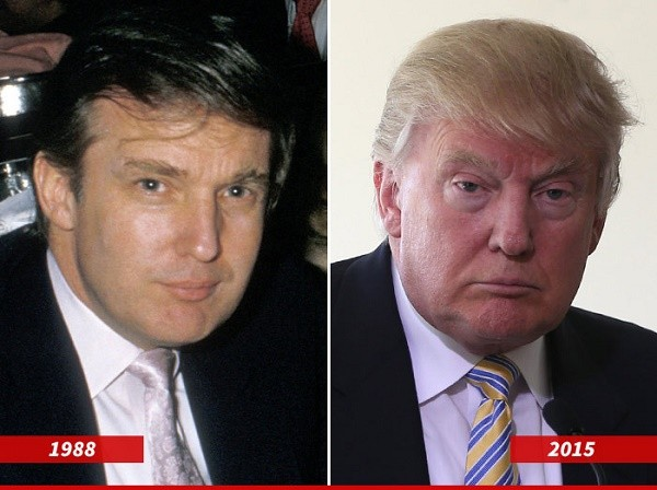 דונלד טראמפ צעיר מבוגר פעם היום